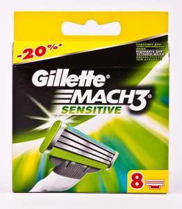 Лезвия (Mach3 Sensitive, 8 шт в упаковке, Германия)Gillette