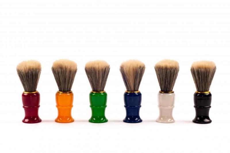 Помазок для бритья (материал пластмасса, ворс, цвет в ассортименте, 6 шт. в упаковке, Китай)White Cloud