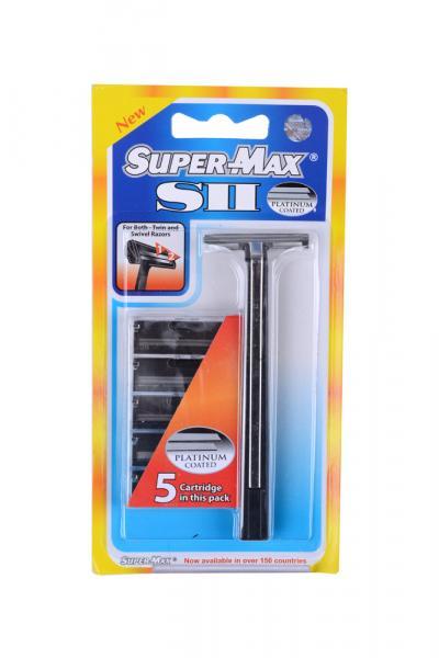 Станок для бритья со сменными кассетами Super max S II, Индия