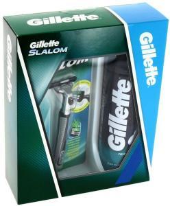 Набор мужской GILLETTE SLALOM(станок для бритья Gillette Slalom и пена для бритья, 200ml)