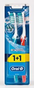Щетка зубная «Oral-B» (серия 1+1, средняя жесткость, головка 40 мм, Китай)