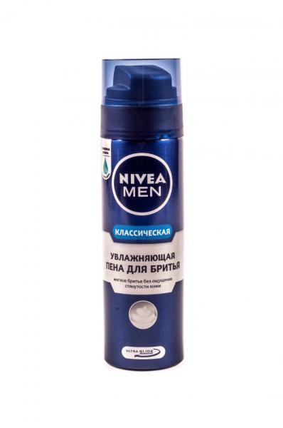 Фото Косметика для бритья, Для бритья, Пена для бритья Пена для бритья «Nivea» (200 мл, с алое вера, Германия) BEIERSDORF