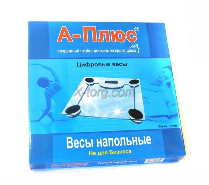 """Весы напольные электронные """"A-ПЛЮС 1652"""", стеклянные, 150 кг, Китай"""