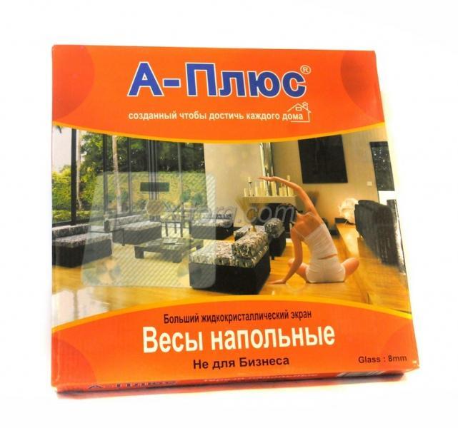 Весы электронные напольные A-Plus, стеклянные, толщина: 8mm, 150 кг, модель: SC-1653