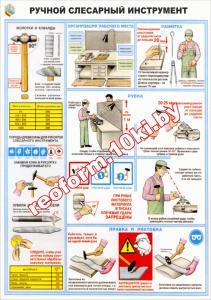 Фото Cтенды и плакаты для кабинета труда, 4.. Стенды для школ Плакат Ручной слесарный инструмент 1