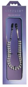 Фото BDSM и электростимуляторы, BDSM игрушки и аксессуары Цепочка с зажимами для сосков Sportsheets Midnight Pearl Chain Nipple Clips