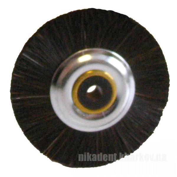 Фото Для зуботехнических лабораторий, АКСЕССУАРЫ, Полиры, щетки, диски Чёрная полировочная щётка с металлическим центром (Stoddart)