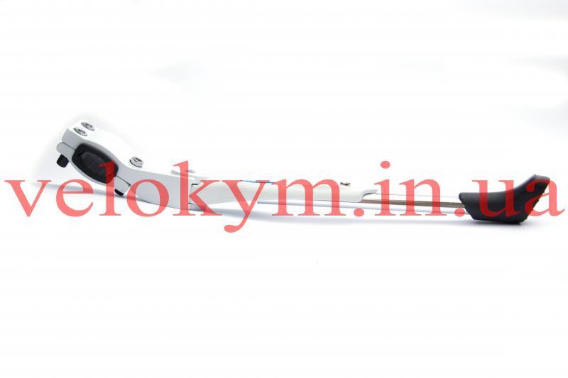 Фото АКСЕСУАРИ, Підніжки Велосипедна підніжка на перо біла «Soldier»