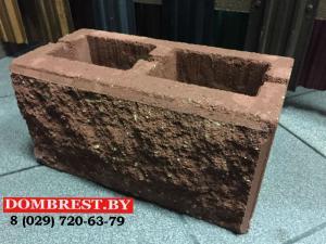 Фото  Блоки для забора демлер рваный камень