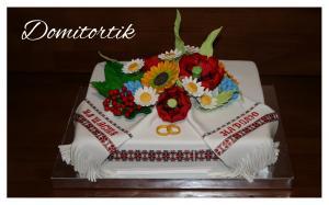 Фото Торты, Праздничные торты Торт свадебный в украинском стиле