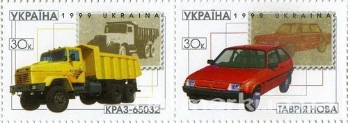 1999 № 281-282 сцепка почтовых марок Автомобили