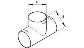 Тройник Т-образный для воздуховода D 60/60/60 мм