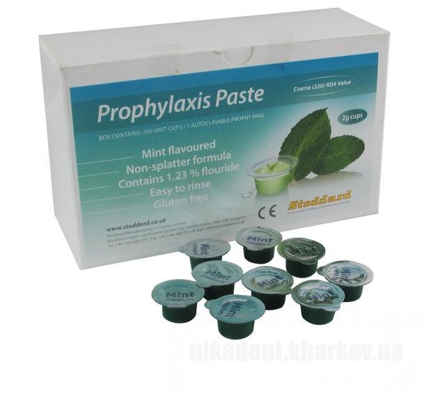 Фото Для стоматологических клиник, Материалы, Системы для отбеливания и полировочные пасты Prophylaxis Paste mini (Профилактическая паста мини (Mint) - Stoddard) - 2г