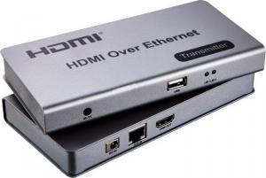 Фото Подовжувачи сигналу Подовжувач HDMI на 120м підтримка KVM, Ethernet, ІЧ