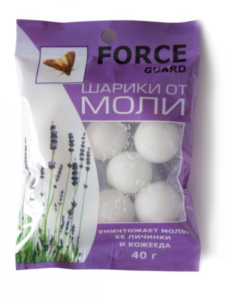 Шарики от моли Force  40 гр. - 1 уп.