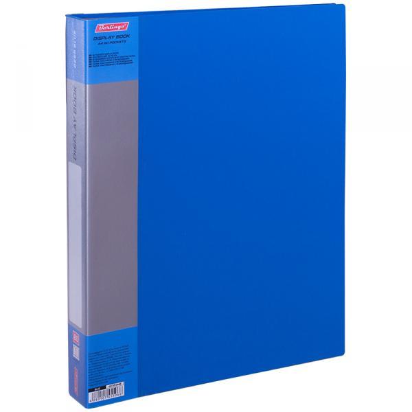"""Папка с 80 вкладышами Berlingo """"Standard"""", 30мм, 800мкм, синяя"""