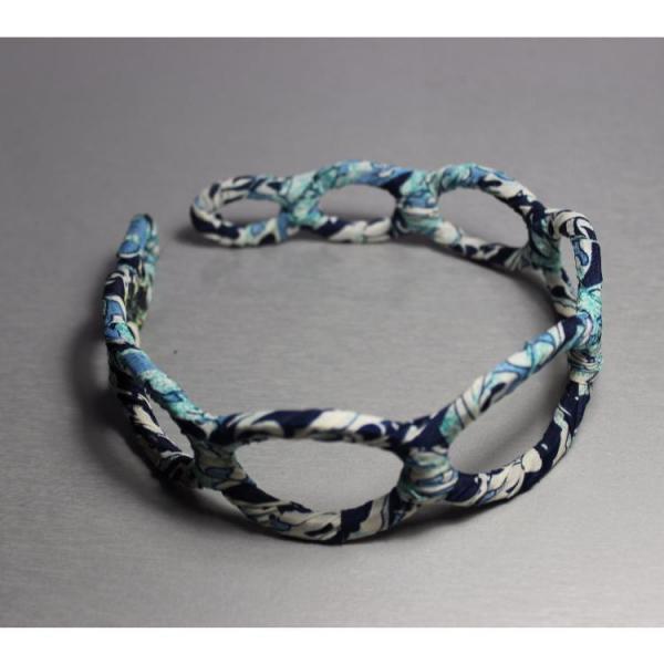 Уценка  Обруч для волос цветочный принт голубой