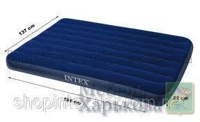 Надувной матрас Intex 68758 137х191х22см