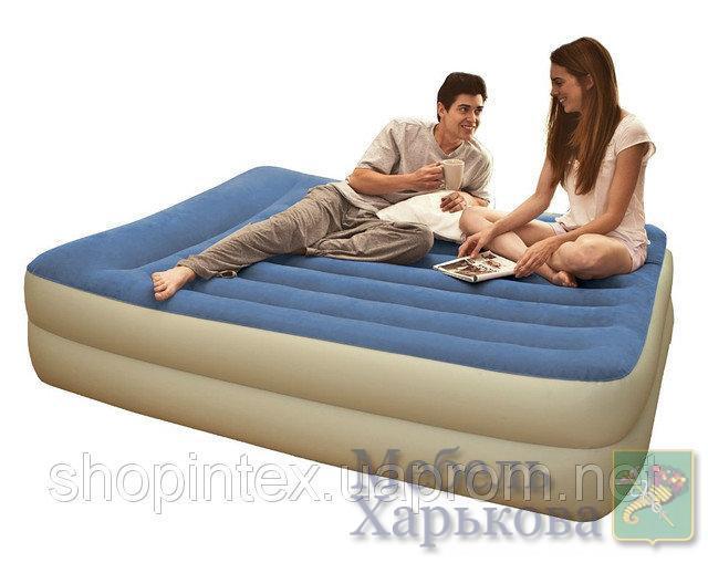 Надувная кровать Intex 67714 встроен. насос. 220В (203 х 152 х 47 см.) - Надувные кровати и матрасы для сна в Харькове