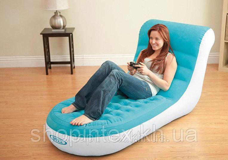 Надувное кресло-шезлонг Splash Lounge, Intex 68880 (84х170х81 см)