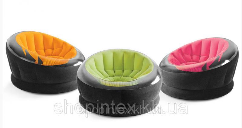 Надувное кресло 112х109х69см, 3 цвета, Intex 68582