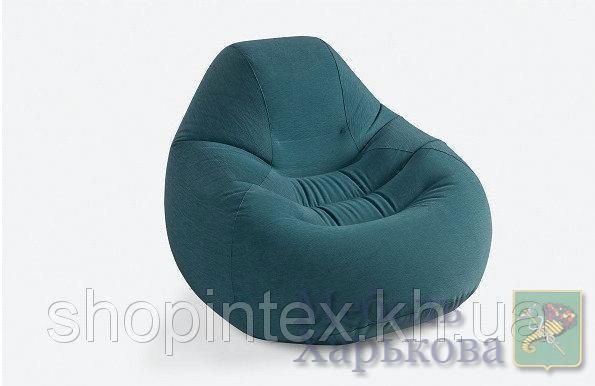 Надувное кресло Intex 68583 Deluxe Beanless Bag Chair (122 х 127 81 см); - Надувные диваны, кресла в Харькове