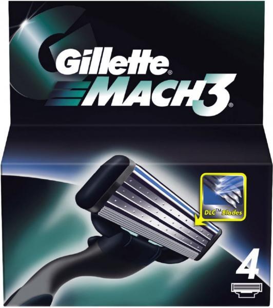 "Картридж для бритвы мужской ""Gillette"" Mach 3 4 шт"