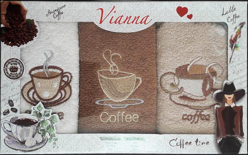 Набор кухонных полотенец 3шт. Vianna кофе