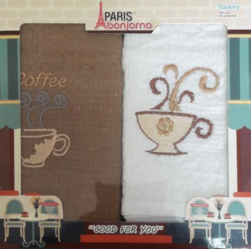 Набор кухонных полотенец Paris кофе