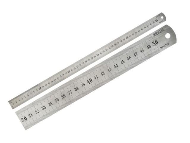"""Линейка металлическая STARTUL """"MASTER"""" Длина: 30, 50,100 см. Ширина - 28 мм. ЦЕНЫ см. подробнее."""