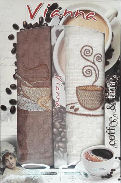 Набор кухонных полотенец Vianna кофе