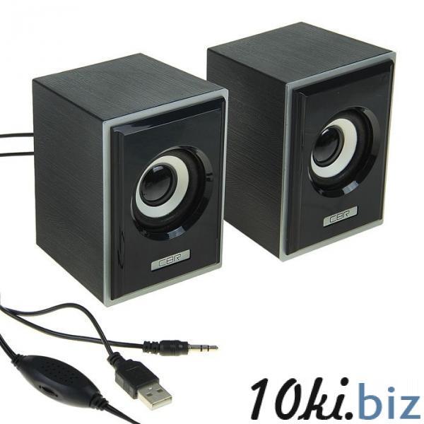 Акустическая система 2.0 CBR CMS 408 Black-Silver, 3 Вт, 2 колонки, USB, черно-серая купить в Беларуси - Усилители звука, колонки