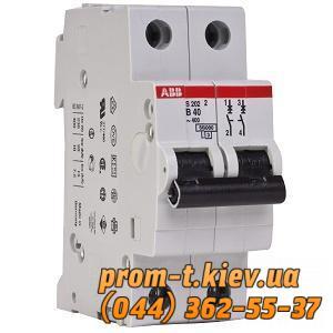 Фото Автоматические аппараты для защиты от перегрузок и короткого замыкания электрической цепи, Автоматический выключатель ABB Автомат ABB S202 C32 2p 32А