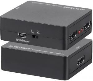 Фото Спліттери Спліттер-комутатор HDMI 2Х1,1X2, пасивний, двонаправлений
