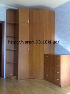 Фото Шкафы, шкафы-купе, комоды Комплект мебели (угловой шкаф с полками и комод)