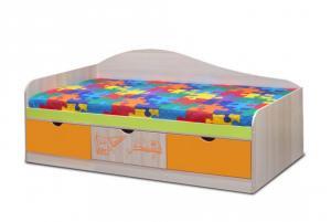 Кровать Почемучка с ящиками (Премиум)