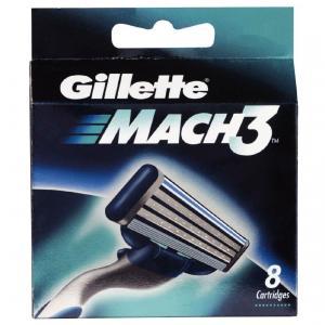 Лезвие-запаска Gillette Mach 3, 8 картриджей, Германия.