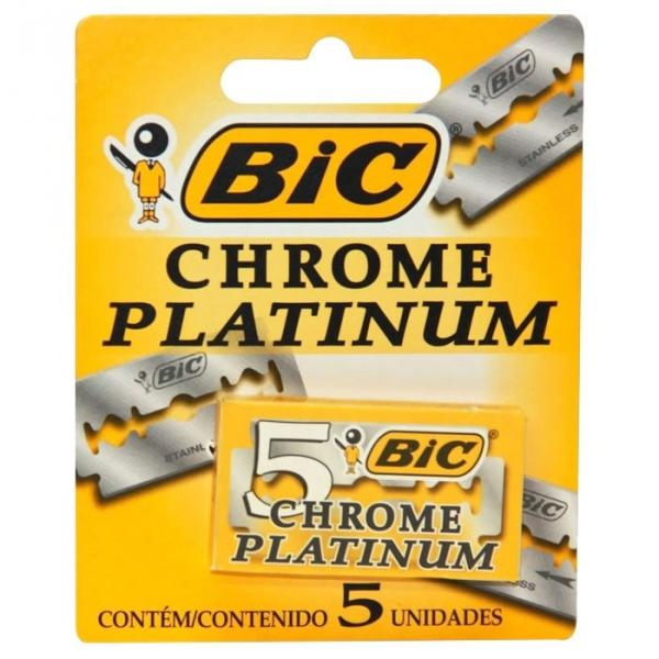 Лезвия для бритвы «Bic» (Chrome Platinum 20x5 мм, Греция)
