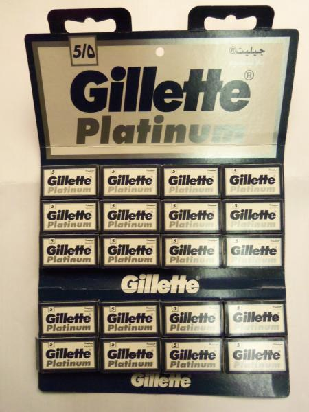 Лезвия для бритья «Gillette Platinum» (двухстороннее, Арабские Эмираты)