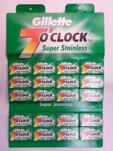 Лезвия для бритья «Gillette» (серия 7 o`clock, двухстороннее, Арабские Эмираты)