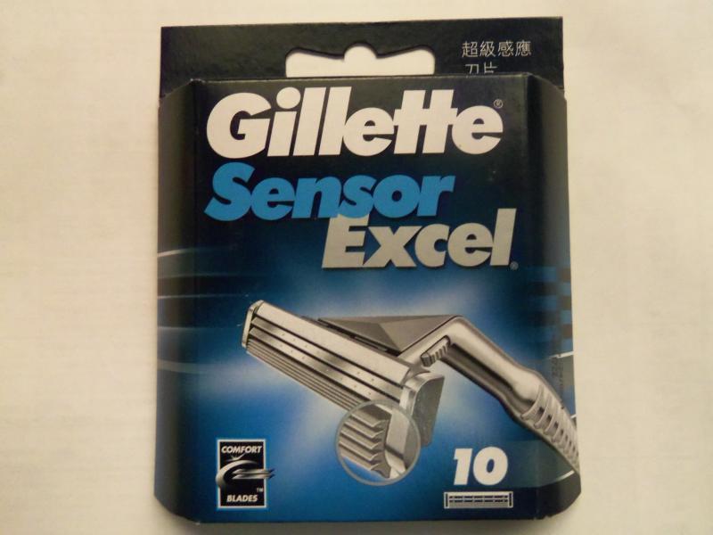 """Картридж для бритвы мужской """"Gillette"""" Sensor Excel 10 шт.Польша"""
