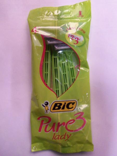 """Станки для бритья женские одноразовые """"Bic"""" Pure 3, 4шт"""