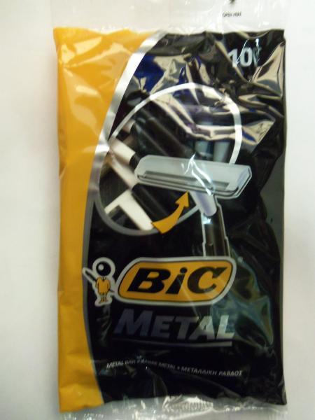 """Станок одноразовый """"BIC Metal"""" (в комплекте 10 станков, 1 лезвие, Греция)"""