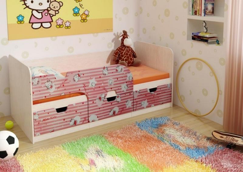 Фото Детская мебель Кровать детская МДФ Минима