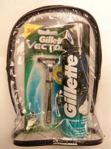 Набор мужской GILLETTE SLALOM(станок для бритья Gillette Slalom+пена для бритья, 200ml)