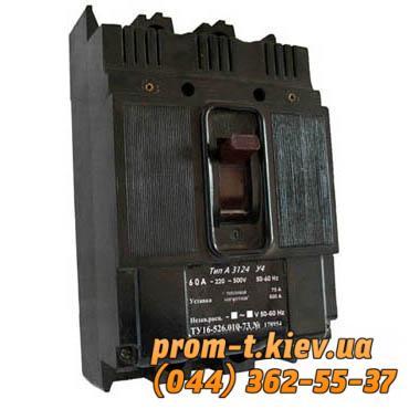 Фото Автоматические выключатели для защиты от перегрузок и короткого замыкания электрической цепи, Автоматический выключатель серии А Автомат А 3124