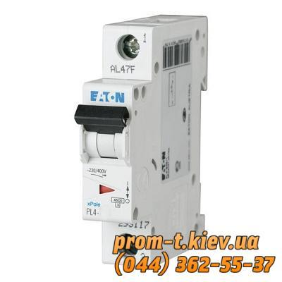 Фото Автоматические аппараты для защиты от перегрузок и короткого замыкания электрической цепи, Автоматический выключатель Moeller, Schneider Еlectric Автомат  PL4-C40/1