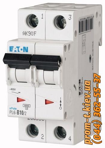Фото Автоматические выключатели для защиты от перегрузок и короткого замыкания электрической цепи, Автоматический выключатель Moeller, Schneider Еlectric Автомат  PL4-C6/2