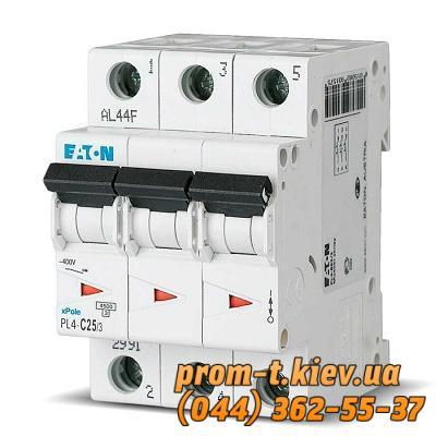 Фото Автоматические аппараты для защиты от перегрузок и короткого замыкания электрической цепи, Автоматический выключатель Moeller, Schneider Еlectric Автомат  PL4-C25/3