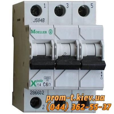 Фото Автоматические аппараты для защиты от перегрузок и короткого замыкания электрической цепи, Автоматический выключатель Moeller, Schneider Еlectric Автомат  PL4-C 6/3